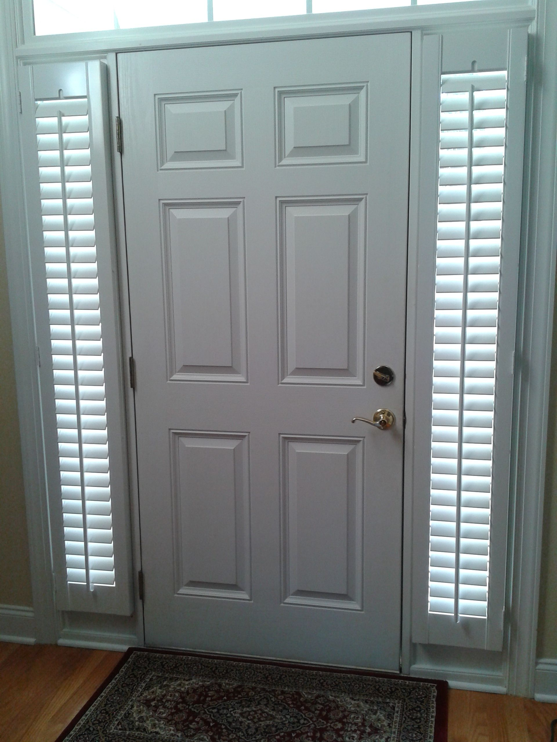 Front Door Sidelights Are An Attractive Solution For