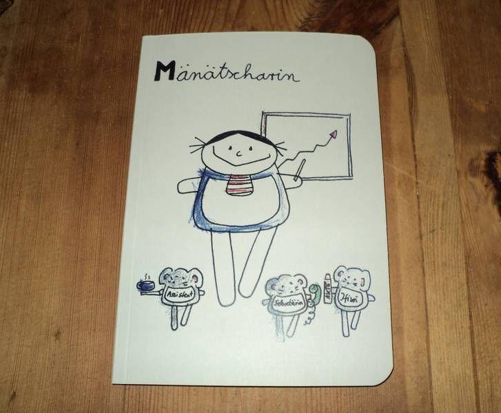 """Mänätscharin"" nini san Notizbuch Beruferaten  von nini san auf DaWanda.com"