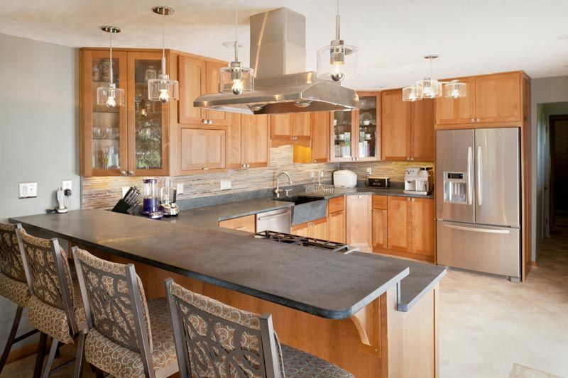 More Ideas Small U Shaped Kitchen Remodel Large U Shaped Kitchen With Island U Shaped Kitchen With Kitchen Remodel Cost Kitchen Layout Kitchen Remodel Small