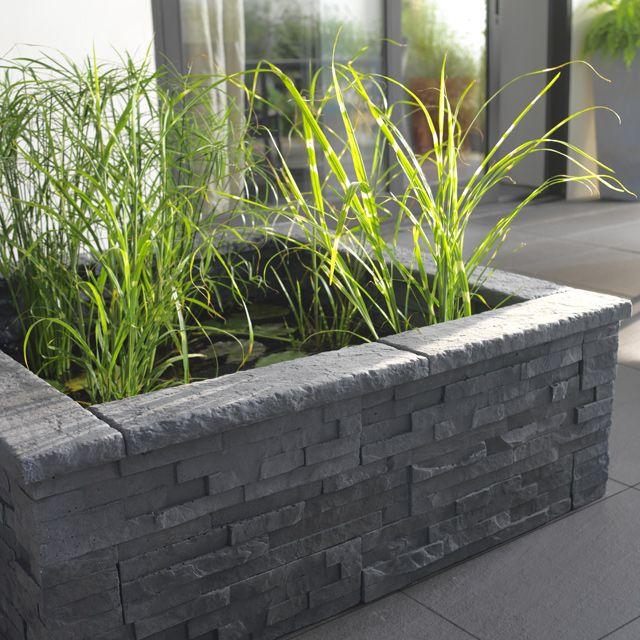 muret 2 faces blooma 50 x 11 cm graphite jardin pinterest jardin plat muret et escalier. Black Bedroom Furniture Sets. Home Design Ideas