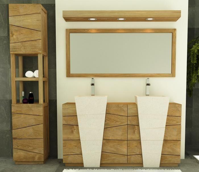 Achat Vente Meuble de salle de bain Rhodes WALK - Meuble en teck