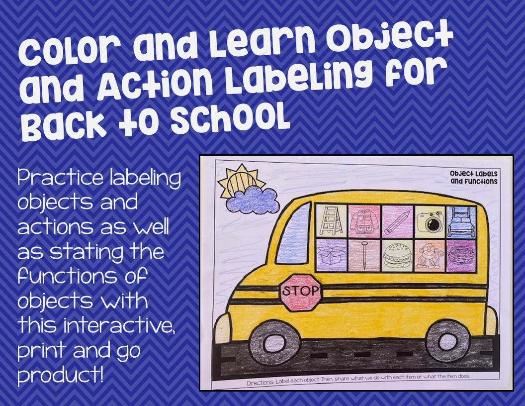 Color And Learn Object And Action Labeling For Back To