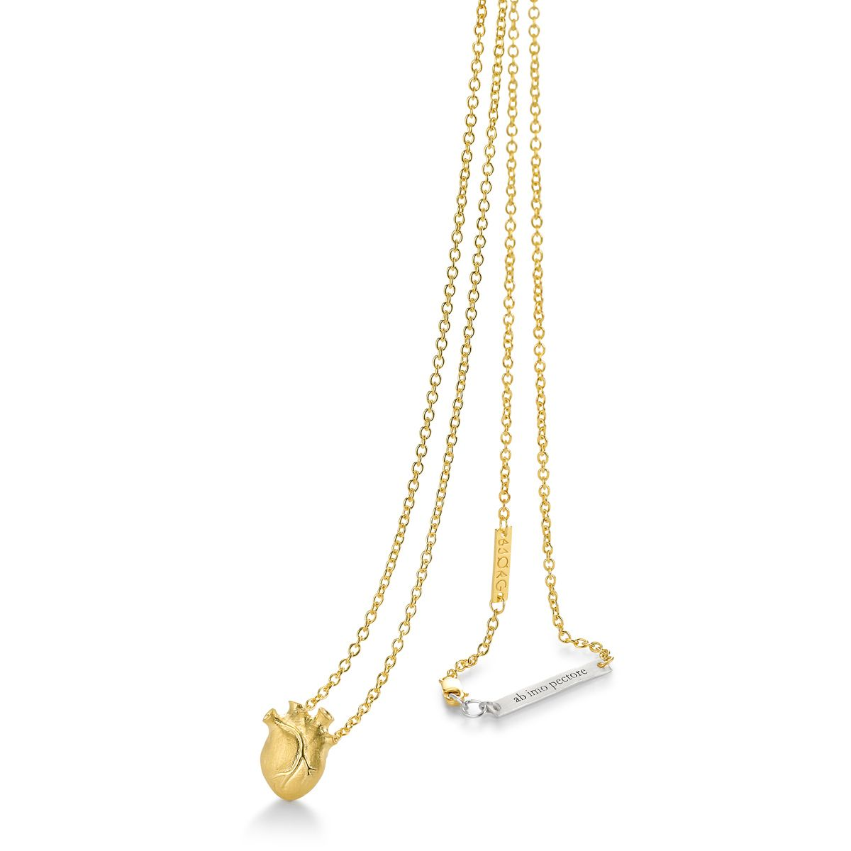 GOLD ANATOMIC HEART necklace