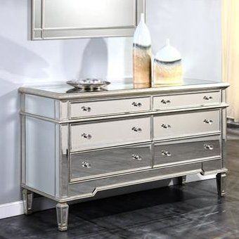 Florentina Mirrored Dresser Mirrored Furniture Wardrobe Room