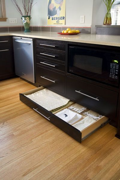 toe kick space hidden kitchen storage http blog