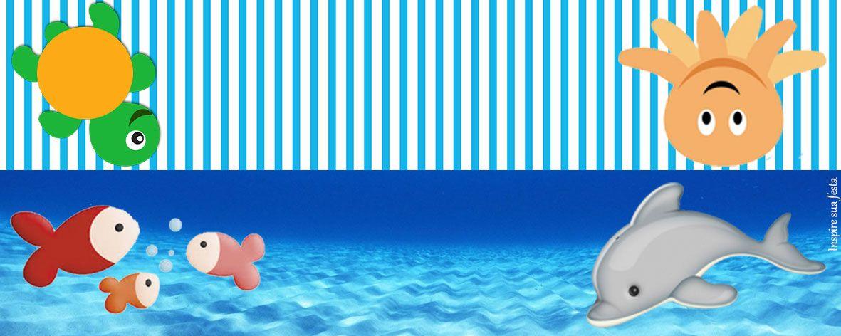 lapela Festa Fundo Do Mar, Kit Festa, Enxoval, Joaozinho, Fundos, Festa 7ec357dc60