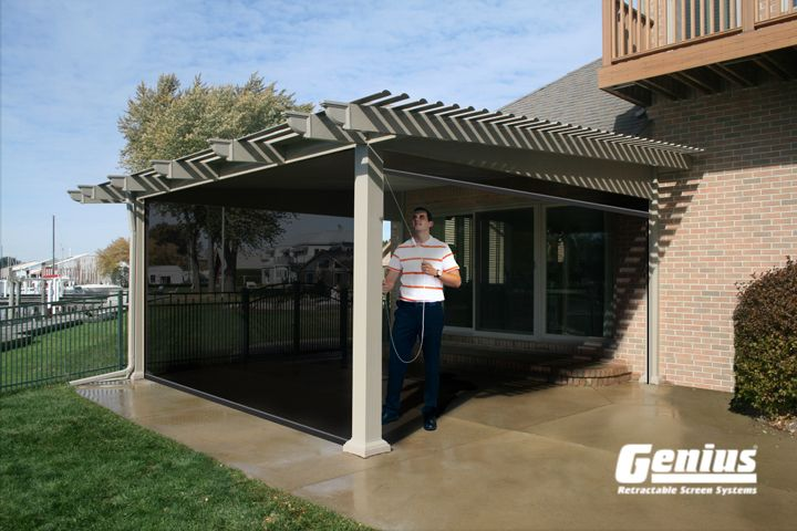 Enjoy Your Screened In Porch This Summer With A Custom Screen By Genius Screens Distributed And Installed By Casco Ind Pergola Pergola Pictures Pergola Patio