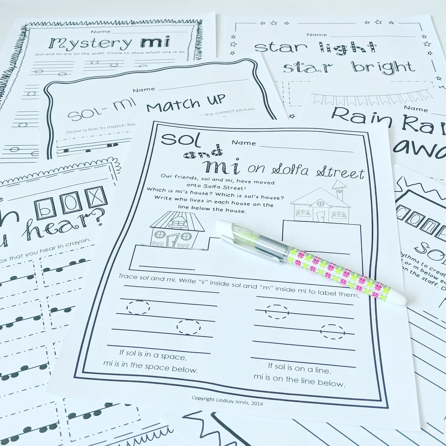 Music Worksheets For Sol And Mi Ready Set Print