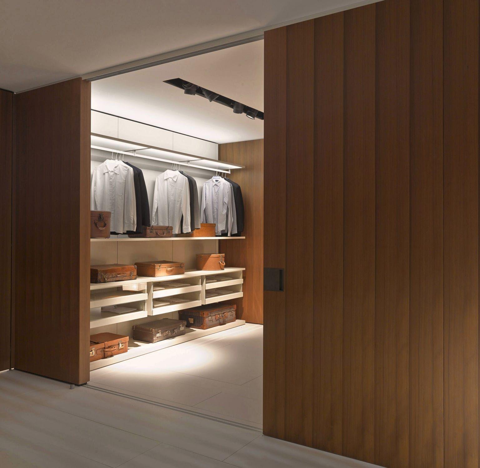 Closet door for walk in wardrobes sliding oak SHIFT by De a
