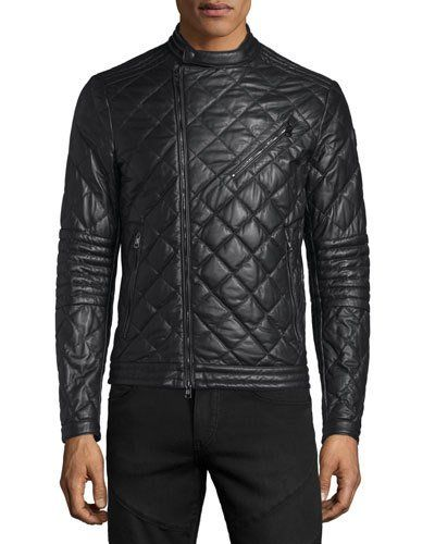 caa2a77224fd N3PSS Moncler Debise Quilted Leather Moto Jacket