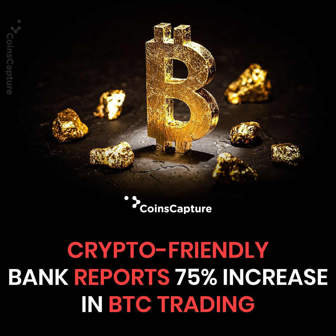 News of the day CryptoFriendly Bank Reports 75 percent