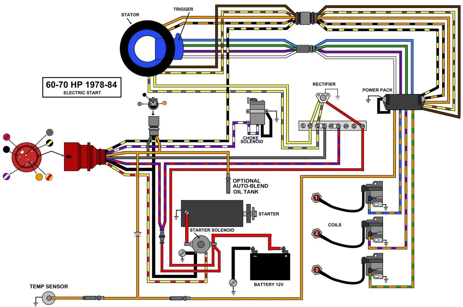 Image result for 70 hp johnson 1988 wiring to tachometer etc ... johnson outboard starter solenoid wiring diagram Pinterest