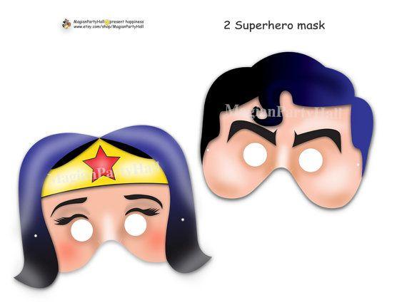 Amazing Superheroes Printable Masks,wonder woman,superhero ...