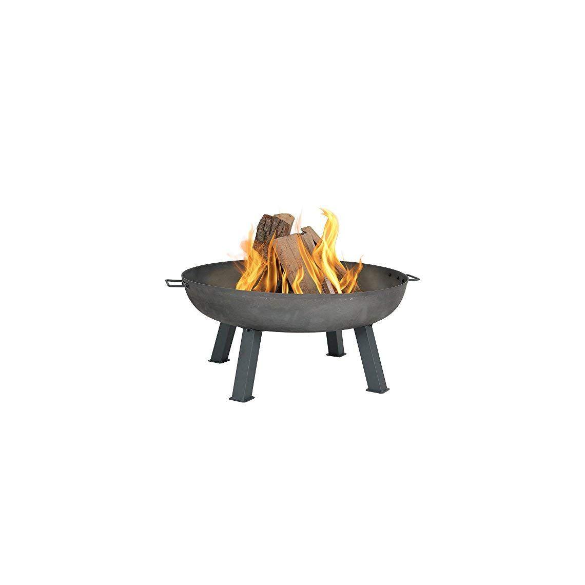 Sunnydaze Cast Iron Outdoor Fire Pit Bowl 34 Inch Large Round