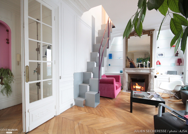 Extension d\'un appartement haussmannien, Paris 10, Julien Secheresse ...
