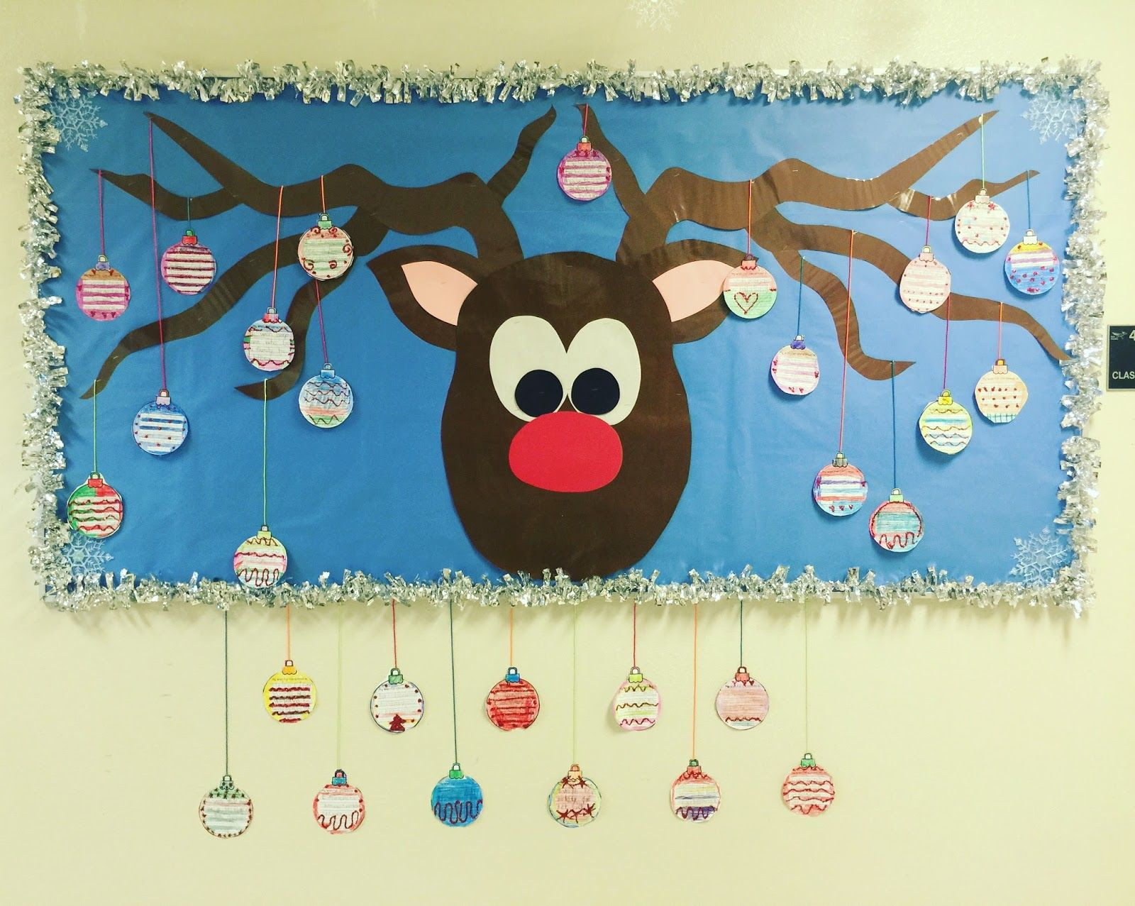 incredible Easy Christmas Bulletin Board Ideas Part - 8: Hi All! My Easy Reindeer bulletin board is COMPLETE! Once I made and  laminated the Reindeer, he is set for years to come. YAY!