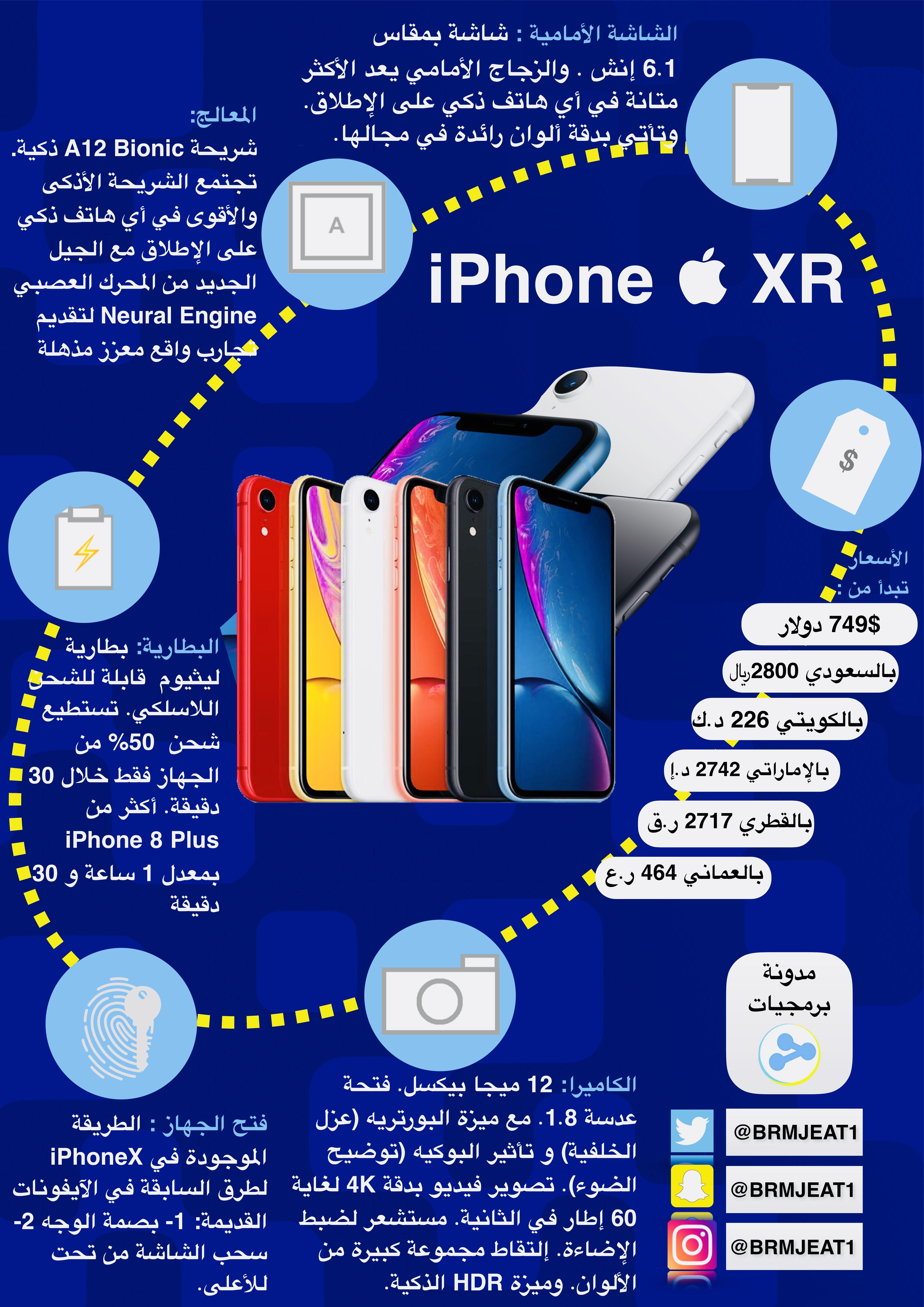 جديد 2018 انفوجرافيك ايفونxr Infographic Iphonexr Apple Iphone Iphone Infographic Apple