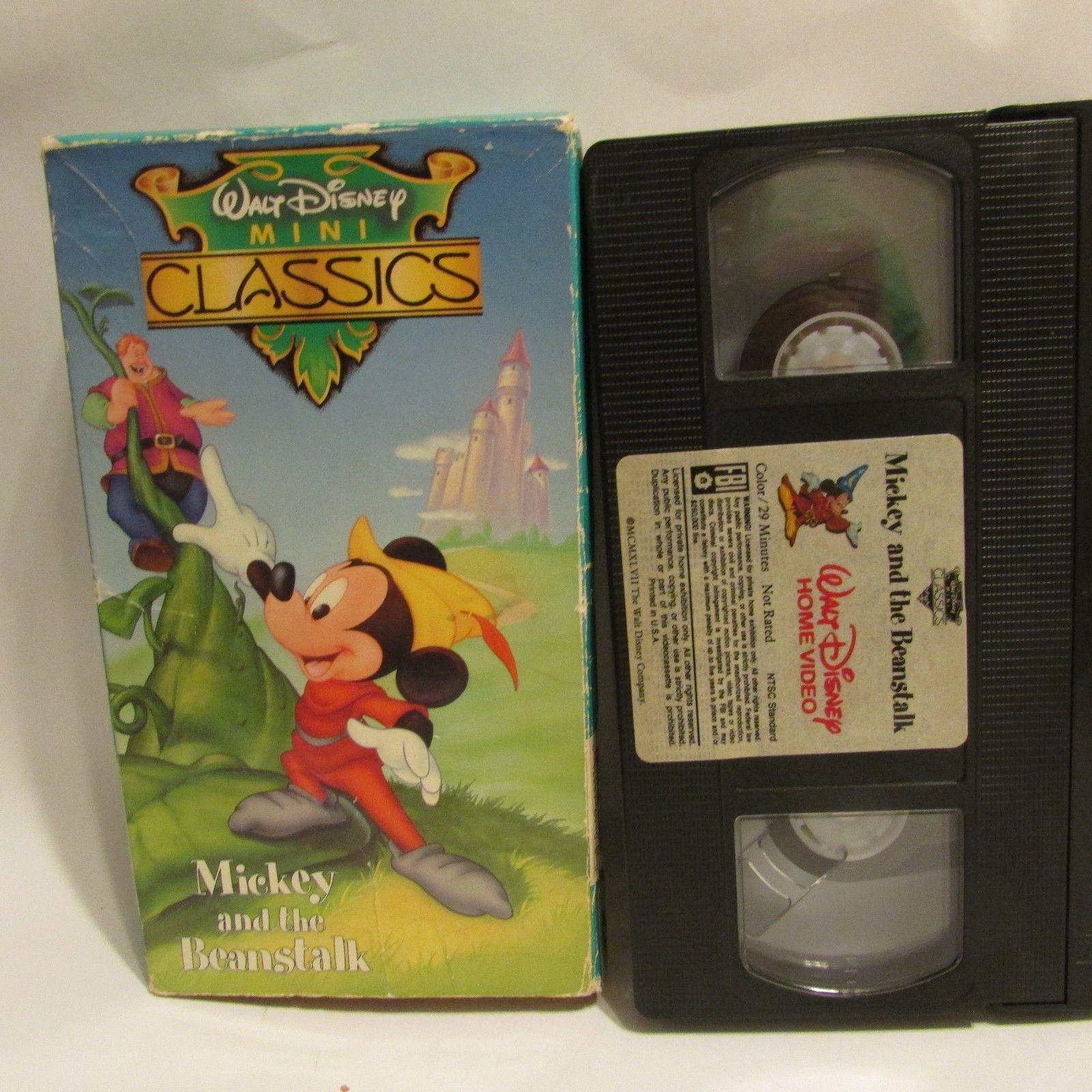 MICKEY AND THE BEANSTALK VHS WALT DISNEY MINI CLASSIC MICKEY MOUSE RARE  VIDEO  9b852b7cb