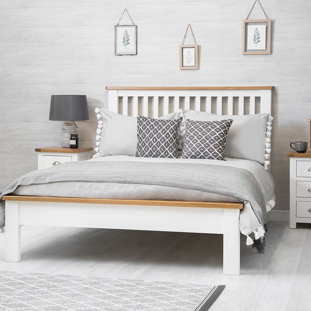 Portland White Painted Oak 5ft King Size Bed With Images White