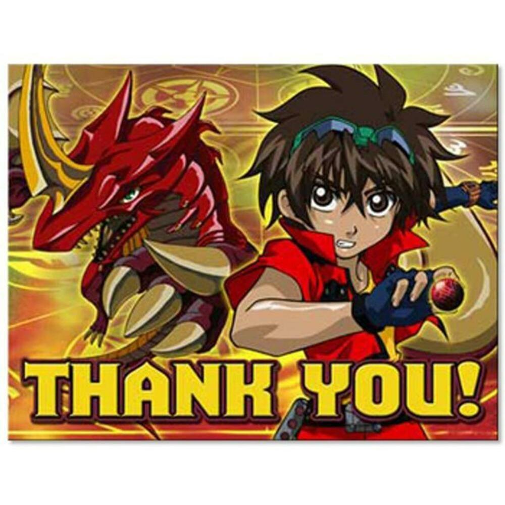 Bakugan battle brawlers thank you notes 8 per package