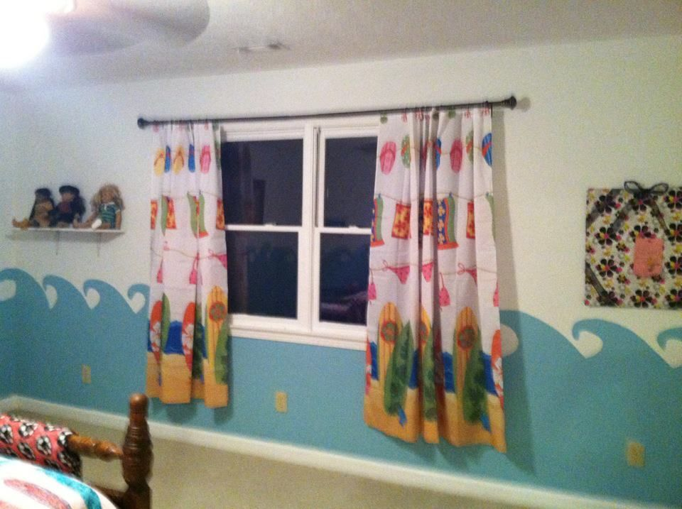 Shower Curtains Used As Window Treatments Use Shower Hooks And A