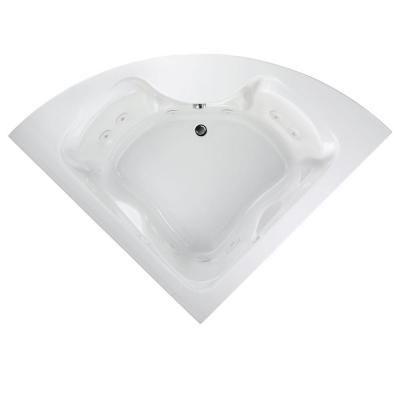 American Standard Everclean Cadet 85 In X 60 In Center Drain Corner Whirlpool Tub In White Whirlpool Tub Whirlpool Bathtub Air Tub