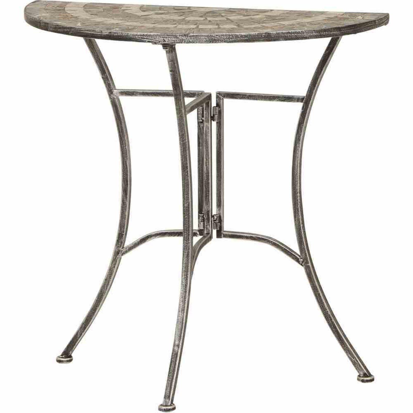 59 Gartentisch Felina Silber Schwarz Mosaik Halbrund Gartentische Gartenmobel Garten Roller Mobelhaus Halber Tisch Gartentisch Eisentisch