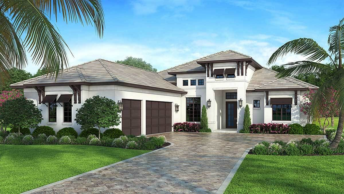 4 bed house plan with front to back views 86044bw architectural designs house plans