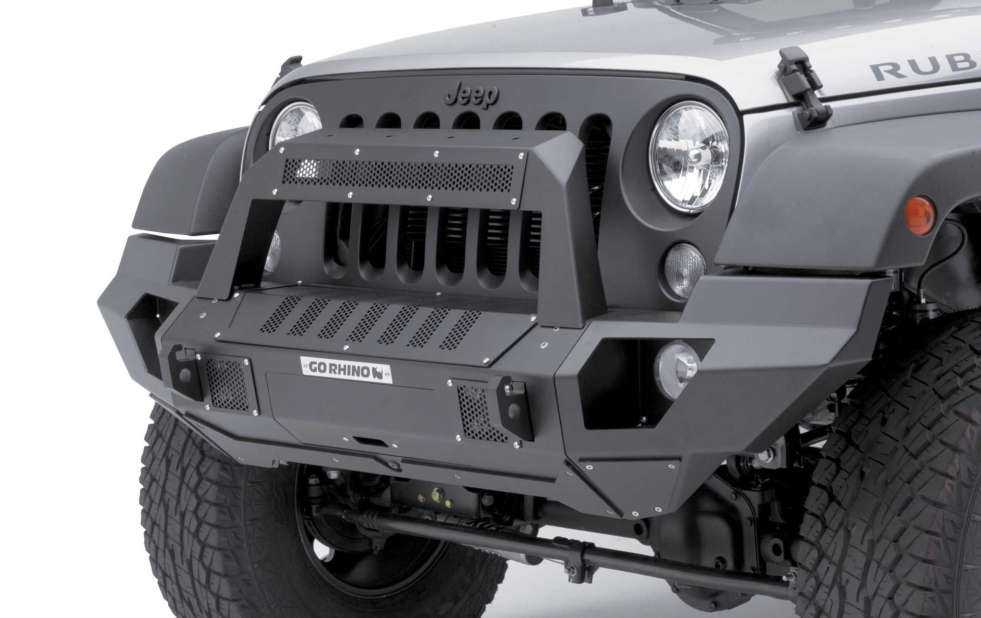 The Go Rhino Brj40 Front Bumper Is The Ultimate Modular Bumper For The Jeep Wrangler Jk Jeep Wrangler Bumpers Jeep Wrangler Front Bumper Jeep Wrangler Lights