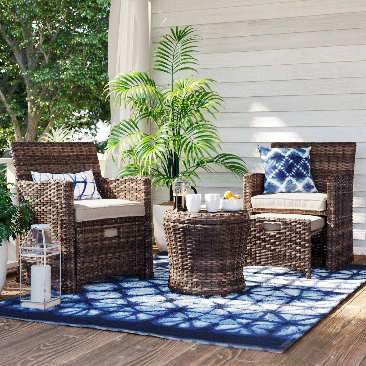 Threshold 5 Piece Wicker Patio Set