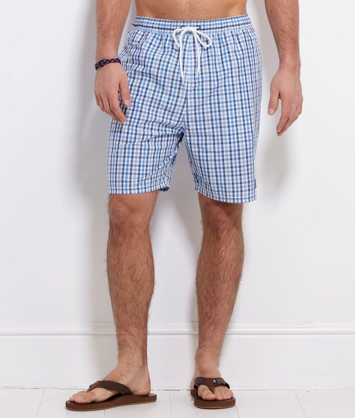 Gingham bungalow shorts mens swim trunks gingham shorts