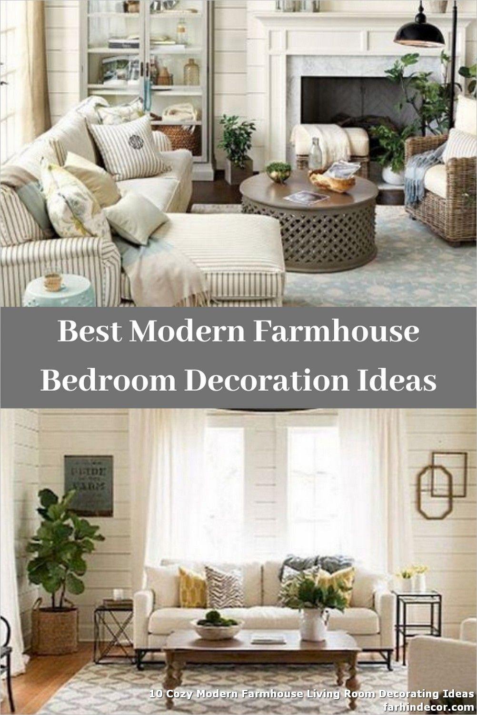10 Cozy Modern Farmhouse Living Room Decorating Ideas In 2020 Farm House Living Room Modern Farmhouse Living Room Front Room Design