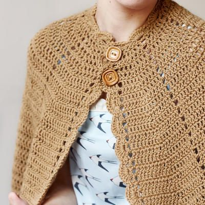 Vintage crocheted cape (PDF pattern for download) | Capes crochet ...