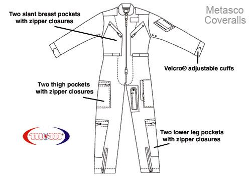 Pilots Overalls Flight Suits Coveralls Flight Suit