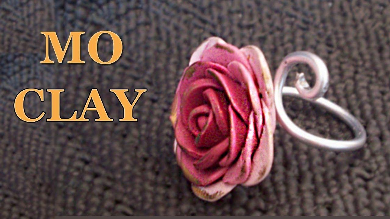DIY polymer clay rose ring tutorial by MoClay