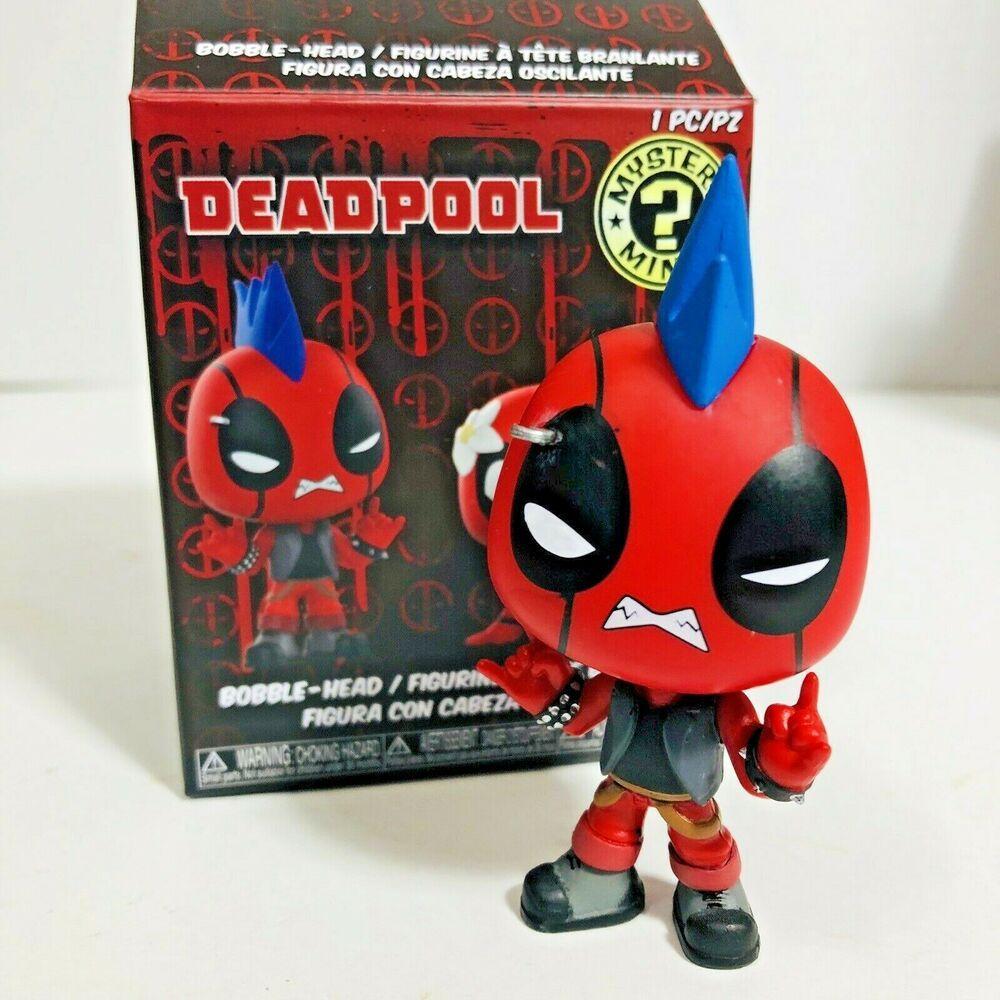 Rocker Deadpool Funko Mystery Minis Marvel Vinyl Bobblehead Figure W Box Funko Funko Mystery Minis Mystery Minis Bobble Head