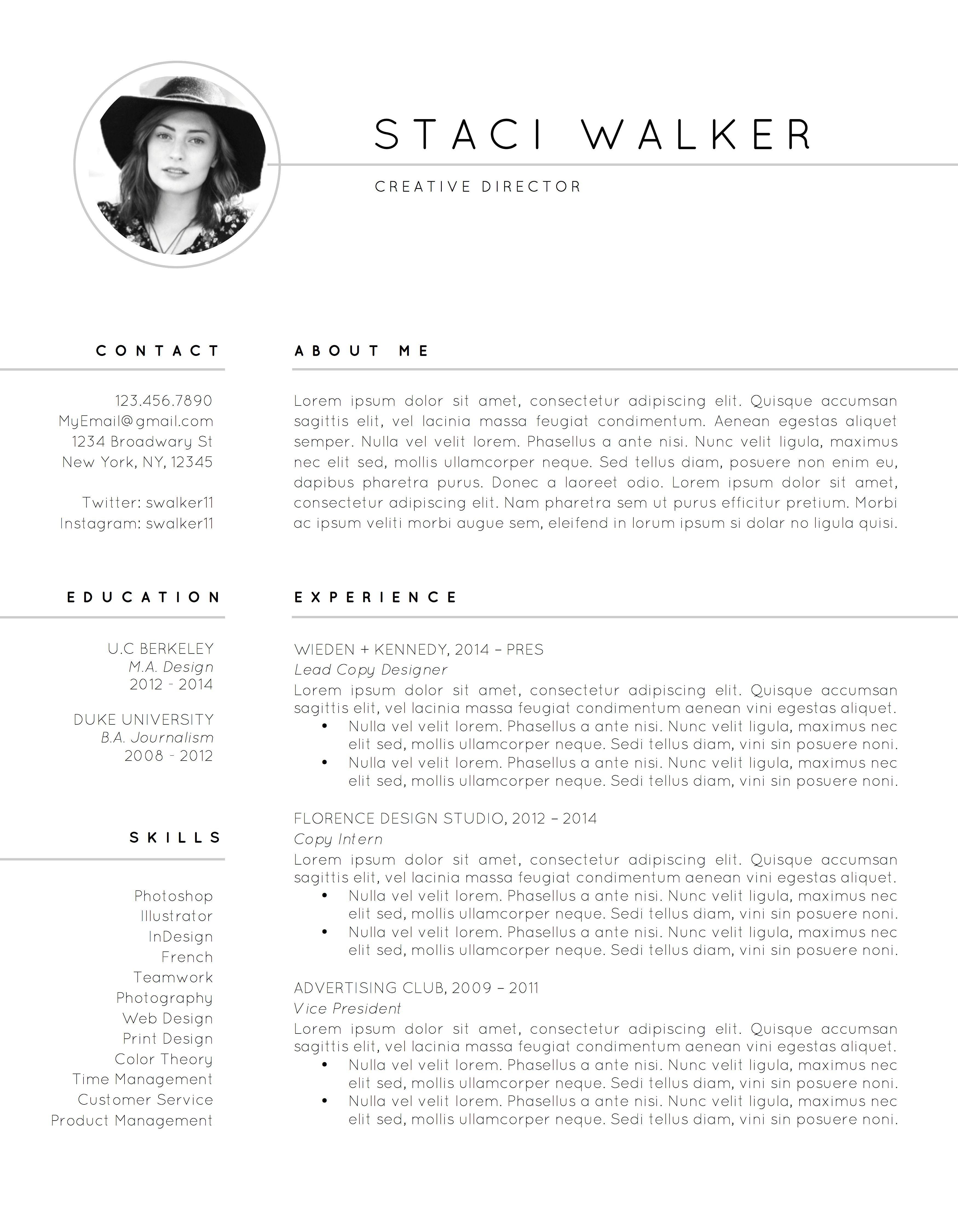 Resume Template / CV + Cover Letter Modern resume