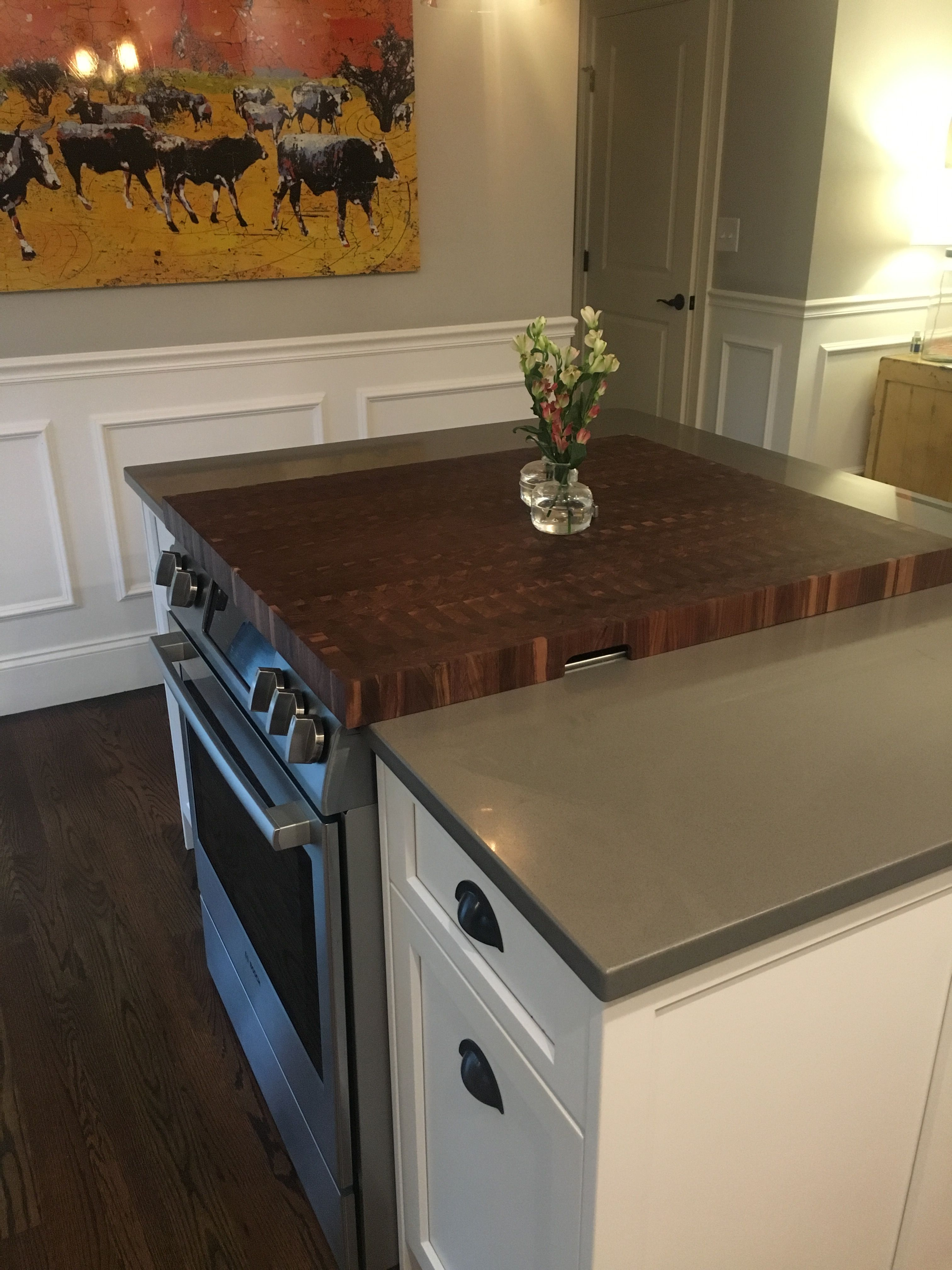 Bosch Range 2 Piece Walnut End Grain Stove Top Cover Custom Covers Grates And Vent Stovetopcovers