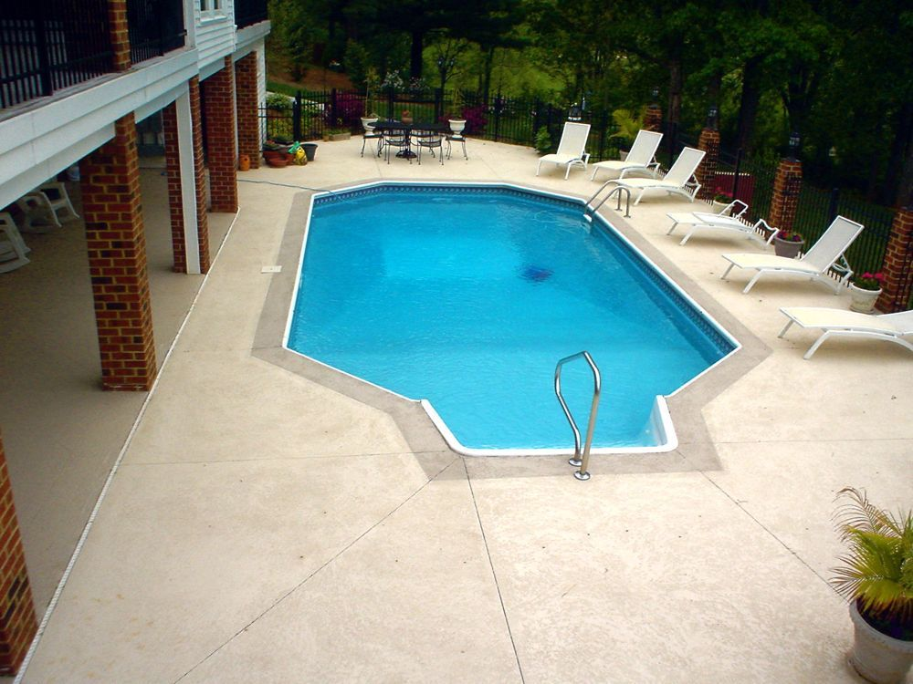 Sprayed Concrete Pool Deck In Forest Va Decorative