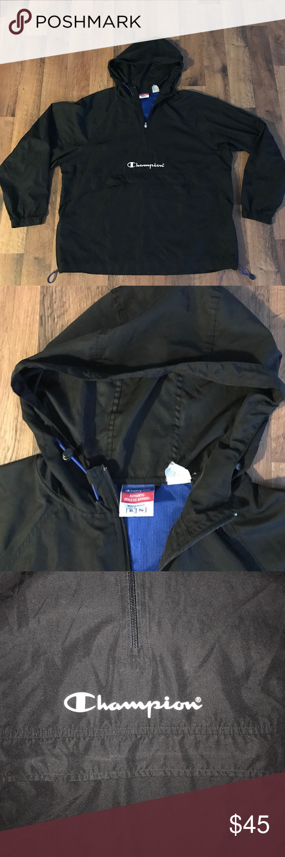 Vintage Xl Champion Spell Out Pullover Jacket Pullover Jacket Jackets Champion Jacket [ 1740 x 580 Pixel ]