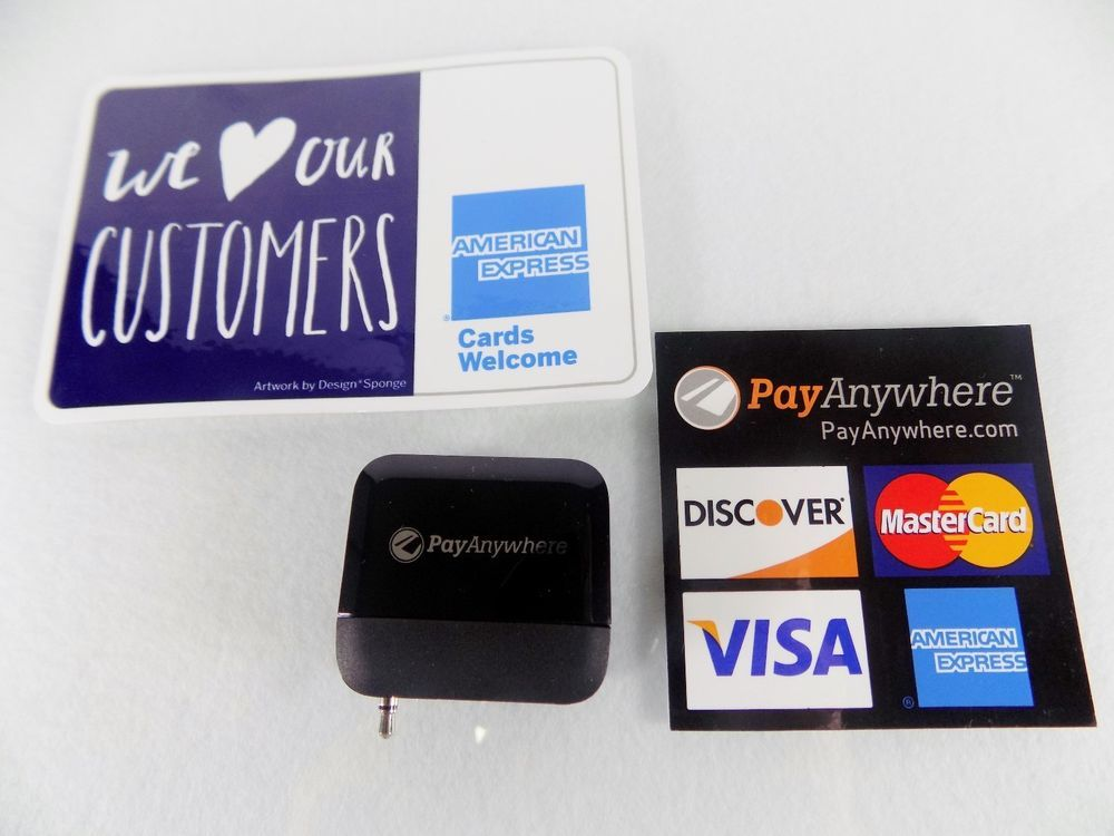 Payanywhere credit and debit card magstripe reader in black plug newpay anywhere credit debit card magstripe readerblackfor small business colourmoves