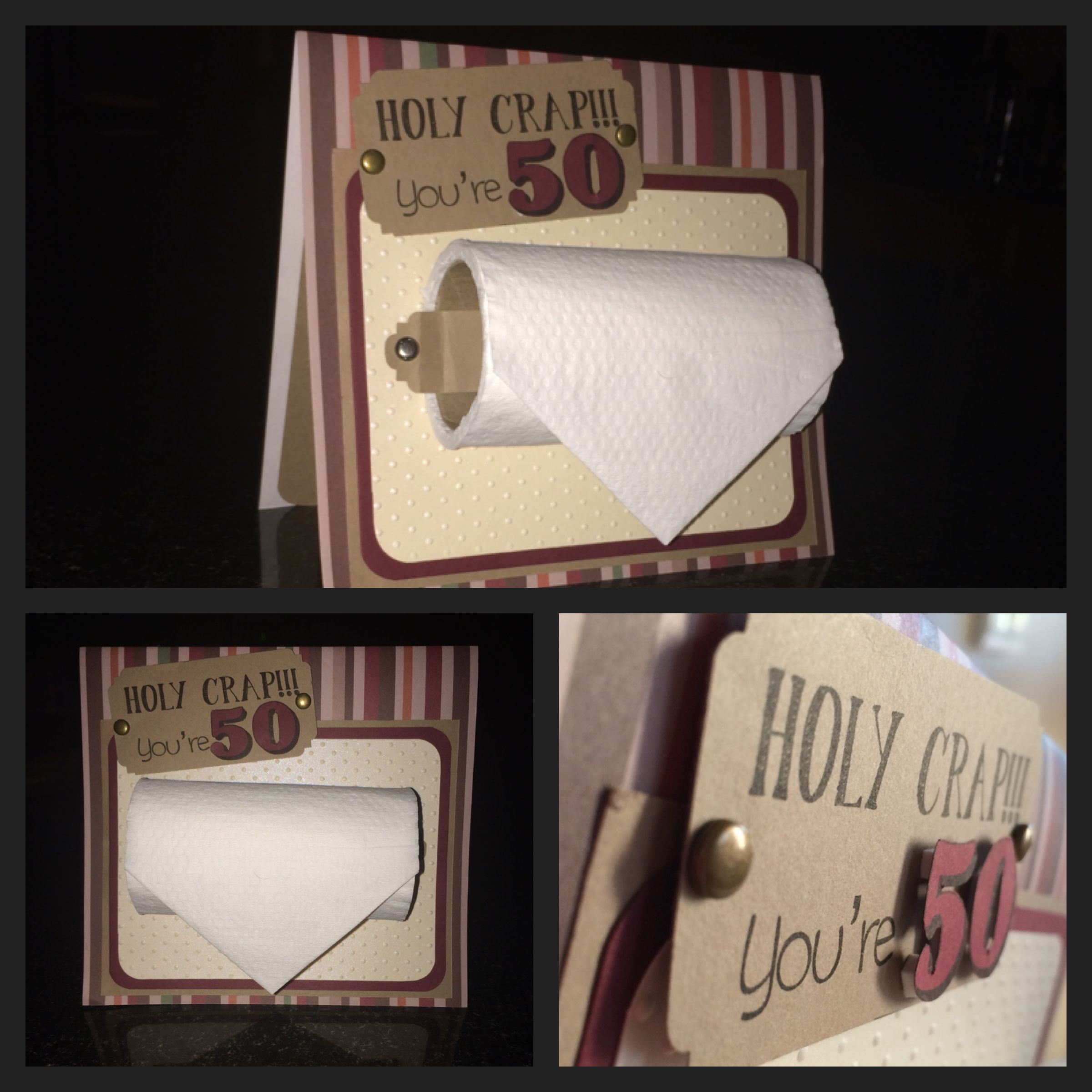 Holy Crap your 50 Birthday card