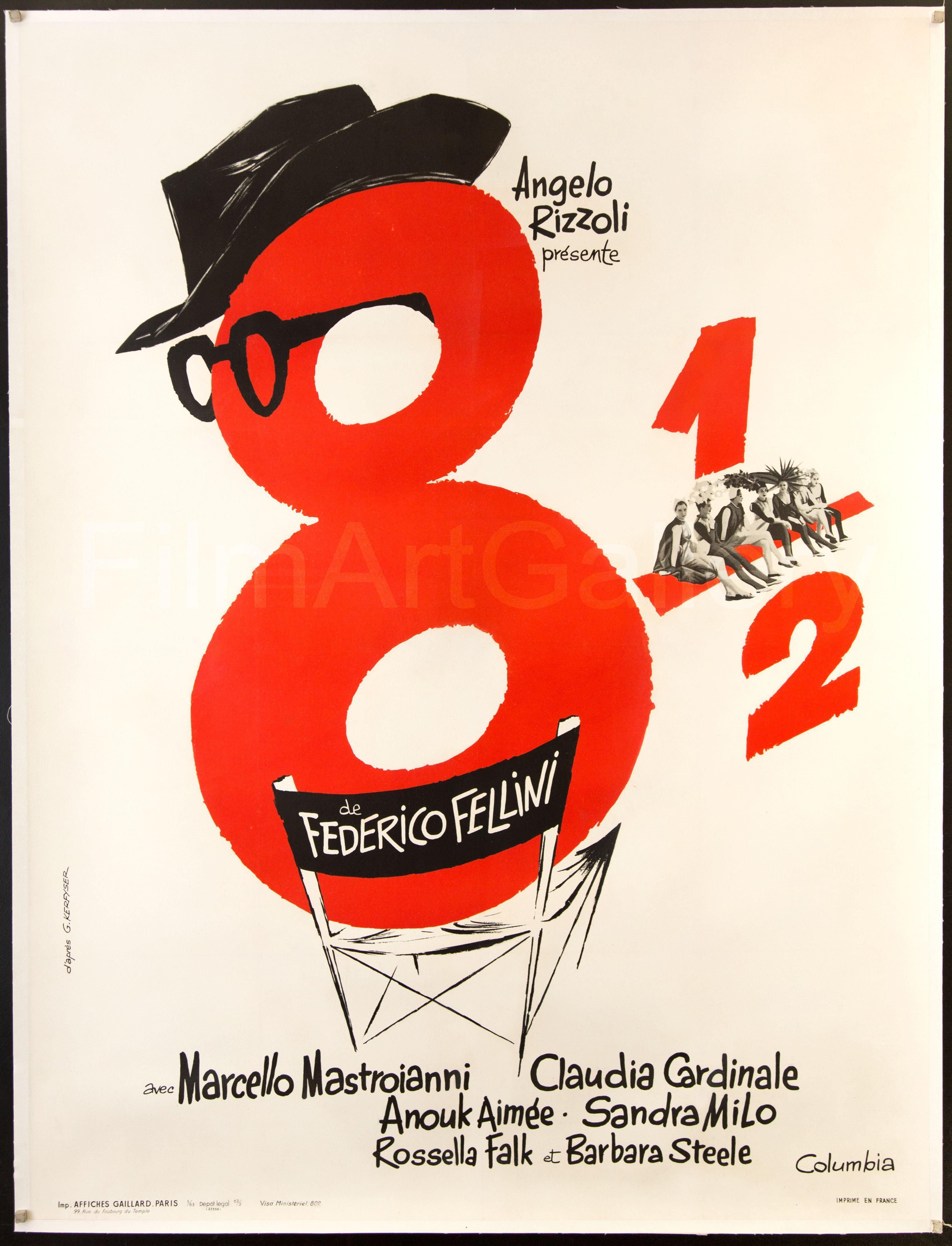 8 1 2 1963 France Poster Art Movie Posters Vintage Movie Posters