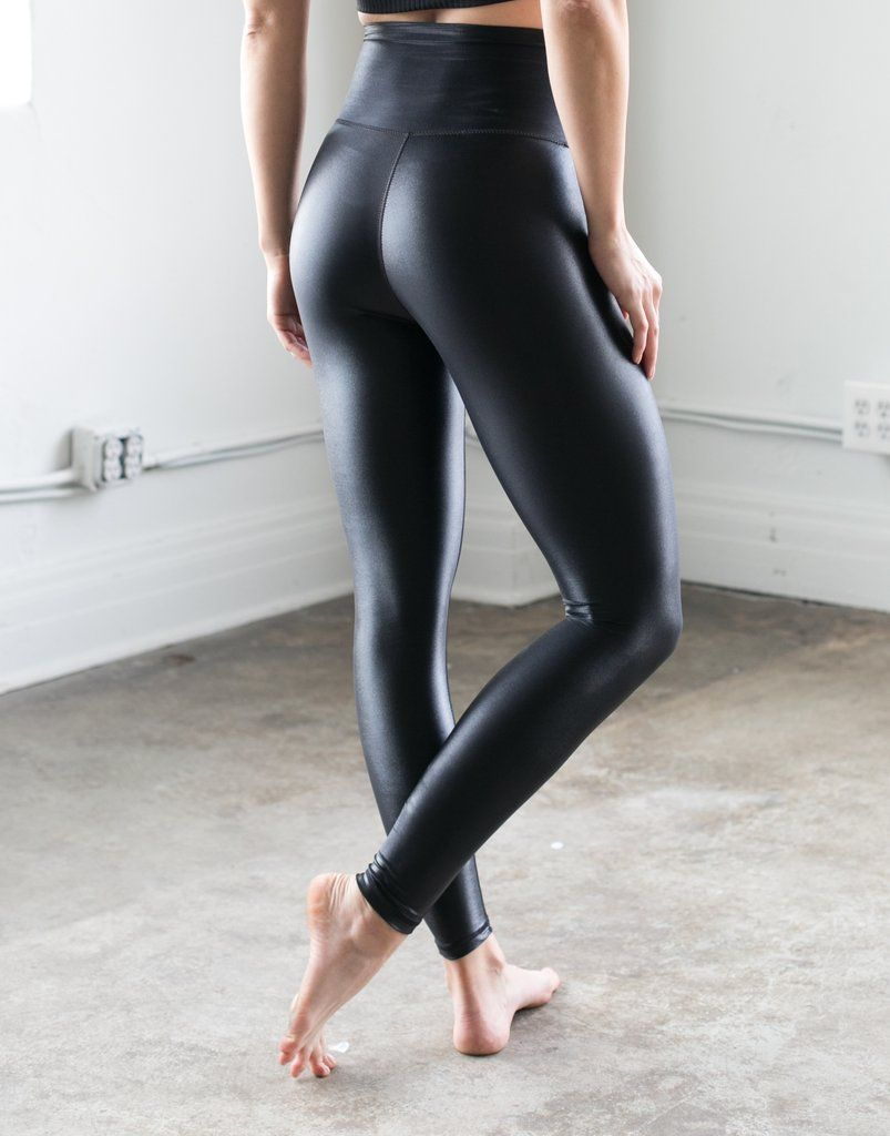 05b76f0148 High Shine Signature Tight Black | Tight Pants | Leather leggings ...