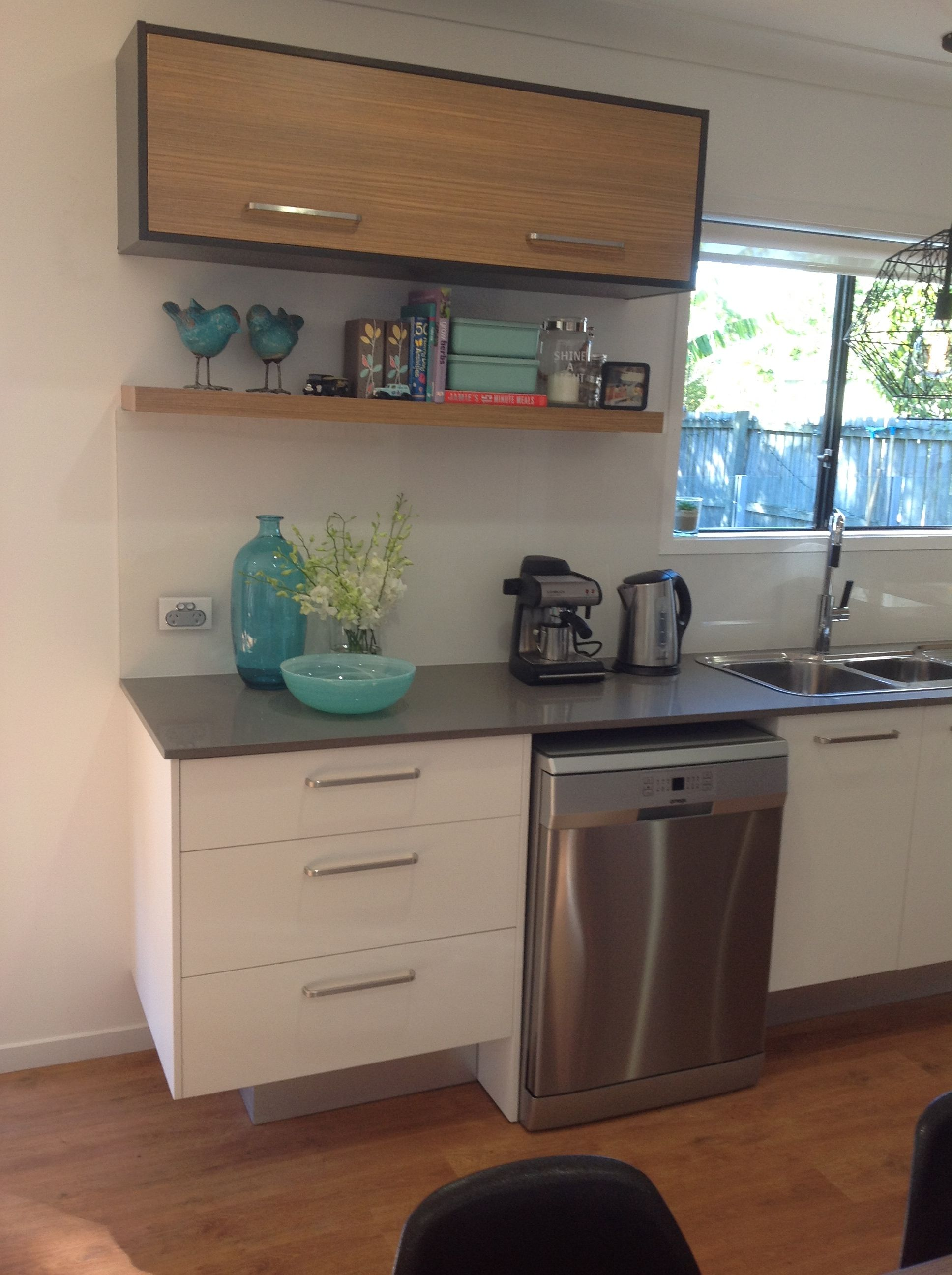 Extra high and deep kicks under base cabinets to allow ...
