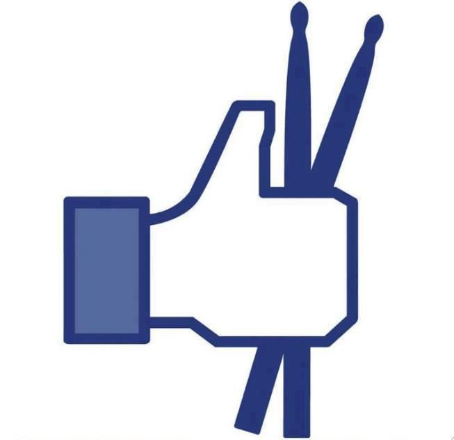 Facebook 'LIKE' button looks way cooler with drumsticks -- don't you agree?! #social #music #meme