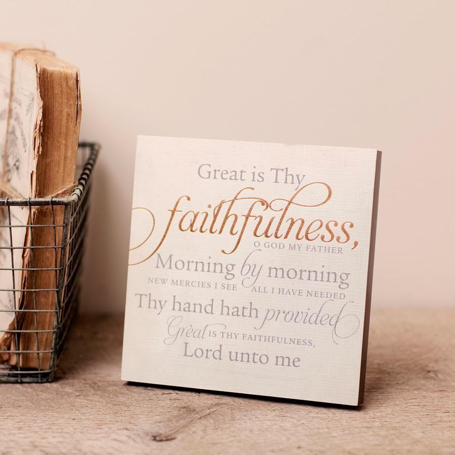Great is thy faithfulness wall art songear christian