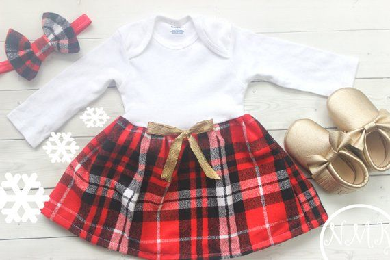 Baby Christmas Dress, Baby Girl Clothes, Baby Christmas Outfit