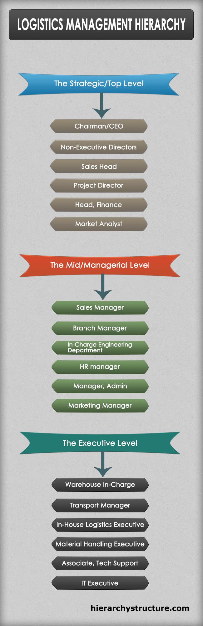 Logistics Management Hierarchy | Management Hierarchy