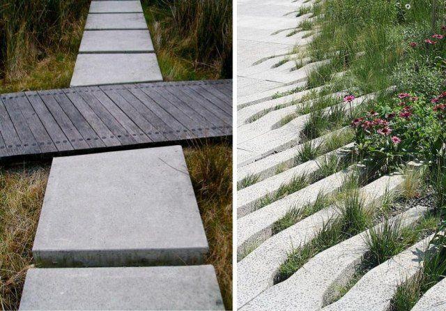 aménagement paysager moderne: 104 idées de jardin design | allées